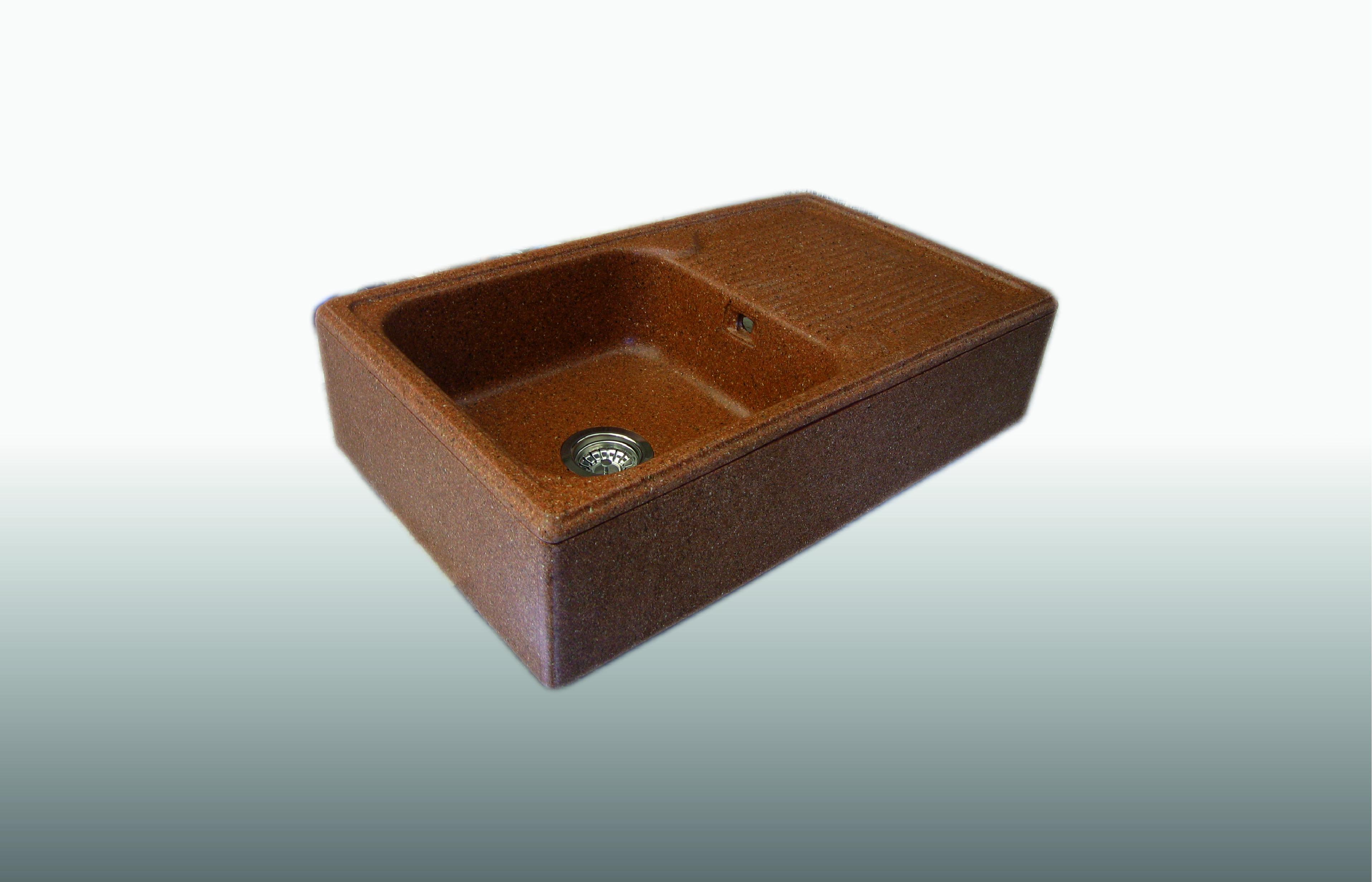 Lavello d'appoggio in graniglia 1 Vasca misura 50x85x21 cm  - prezzo 480,00 - 610€