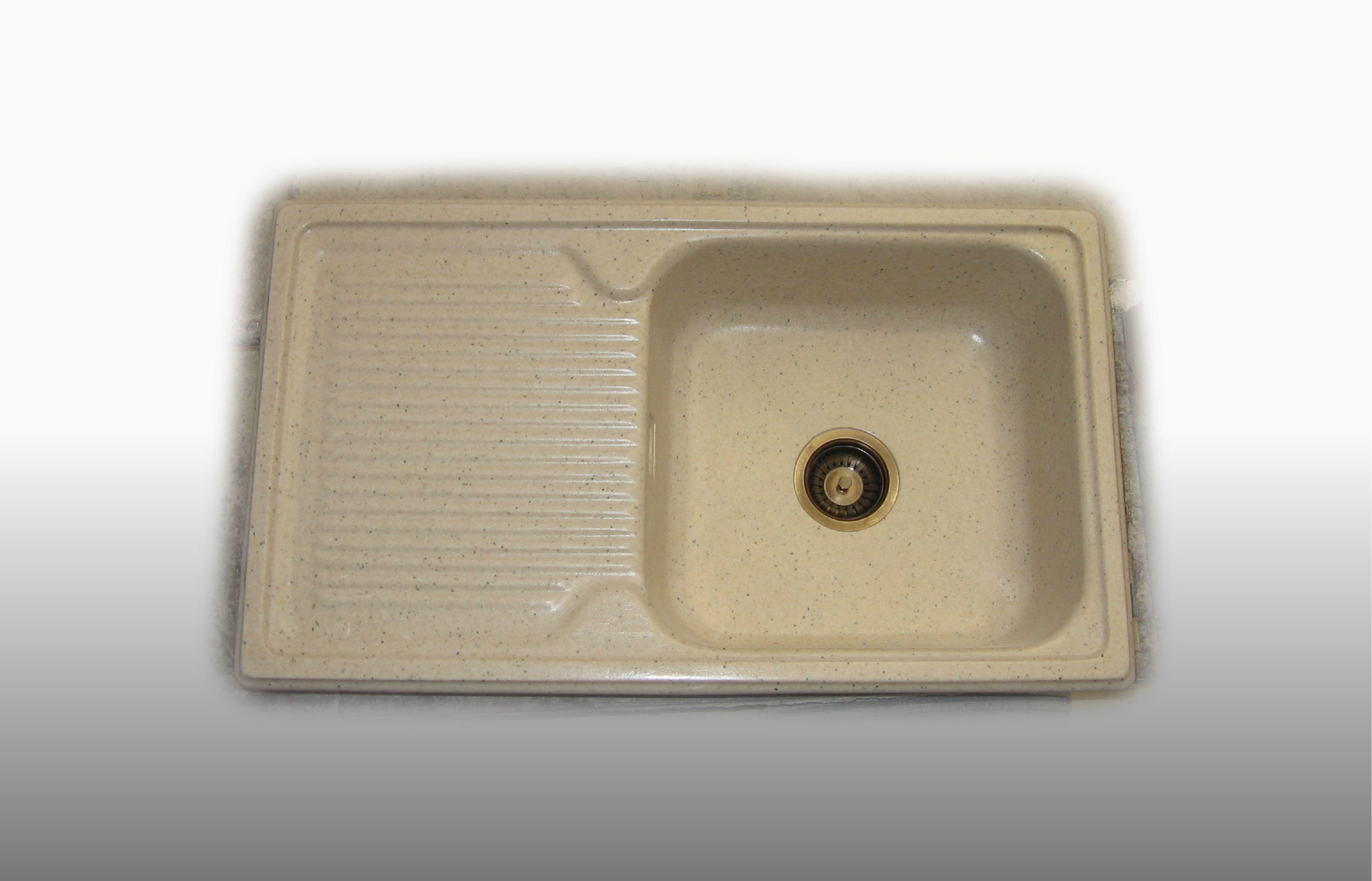 Lavello da incasso in graniglia 1  Vasca e gocciolatoio misura 86x50 cm  - prezzo 260,00 - 366€