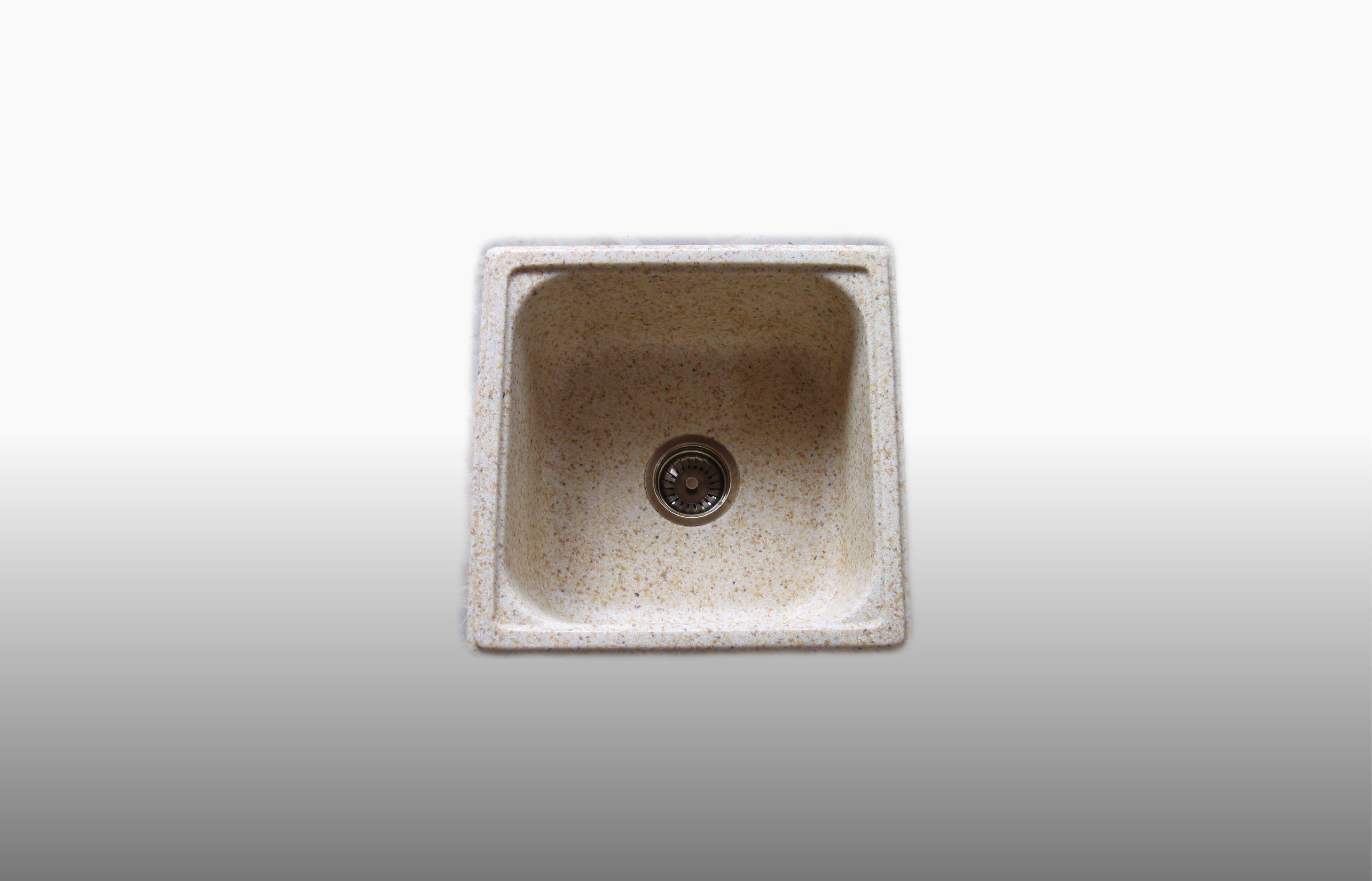 Lavello da incasso in graniglia  Vasche colore avorio - misura 47x47 cm  - prezzo 150,00 - 190 €