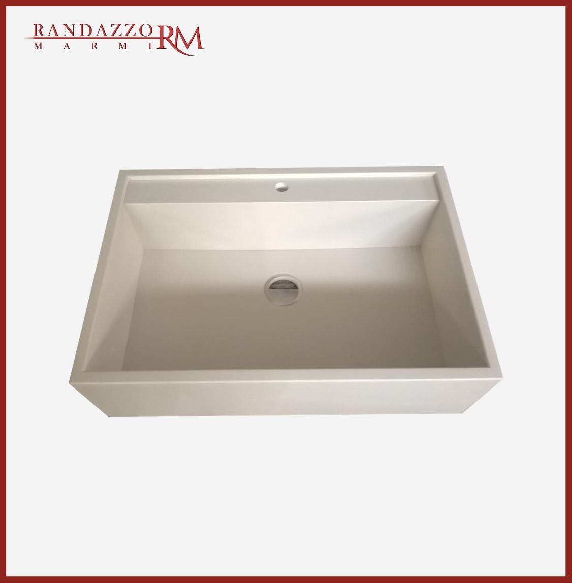 Lavello In Quarzo – Resina Colore Bianco