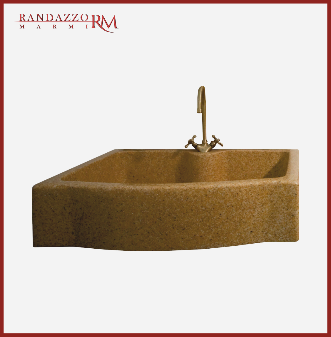 Lavello In Marmo – Resina Colore Giallo Siena